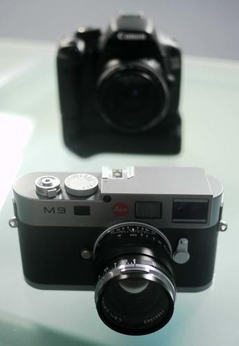 Leica M9 Canon 550D
