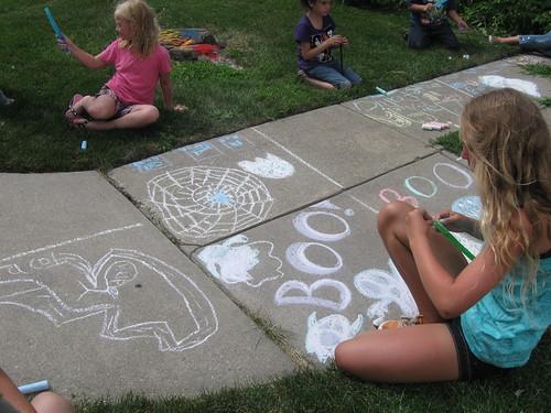 Aula de artes na creche