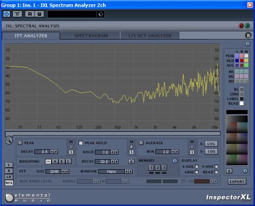 ADA 8000 with and without NEVE transformer null test channel sweep compare