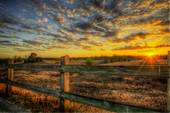 Stopped for the light (MDSimages.com) Tags: sunset fence landscape nikon florida hdr highdynamicrange photomatix michaelsteighner mdsimages