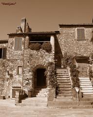 Capalbio seppia (*DaniGanz*) Tags: italy tag3 taggedout sepia tag2 italia tag1 e tuscany toscana medievale middleage maremma seppia capalbio laziale daniganz colorphotoaward