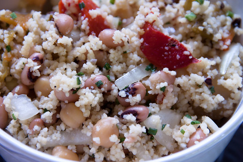 Couscous and beans