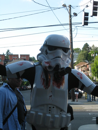 The Zombie Storm Trooper won the costume contest.