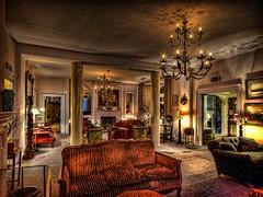 Moonfleet Manor Hotel (alexbrn) Tags: england hotel nikon interior room columns sofa chandelier dorset dslr fleet hdr d300 photomatix tonemap 1020mmf456exdchsm moonfleetmanor
