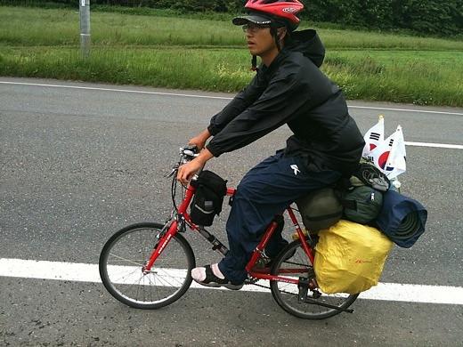 韓国人サイクリストのソン君