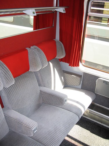 1st class compartment on charter train, France