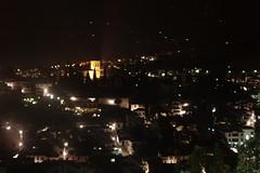 Blick aufs nächtliche Granada, Andalusien