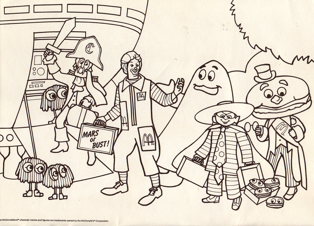 It's just a photo of Modest mcdonalds coloring pages