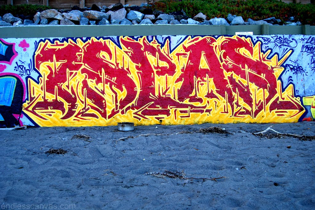 7SEAS Graffiti Piece in Bolinas CA.