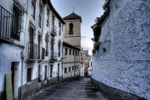Albaicín street. Granada. Calle del Albaicín.