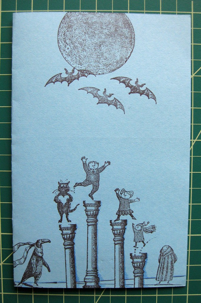 Hand-stamped Gorey card