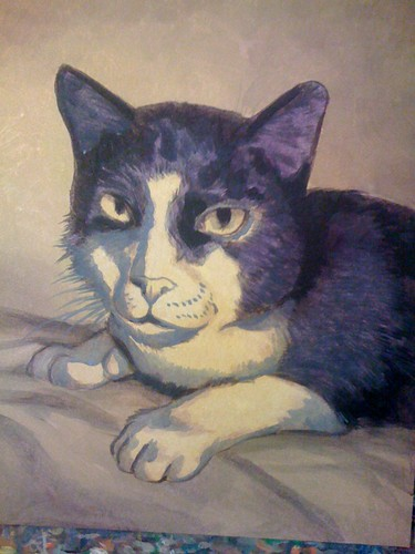 Henry the Cat Painting - 2