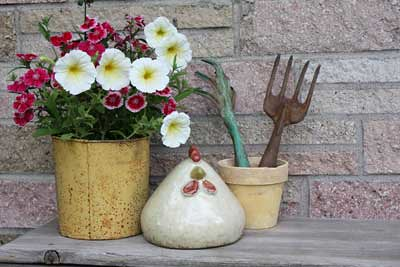 Flower Planter and Old Tools
