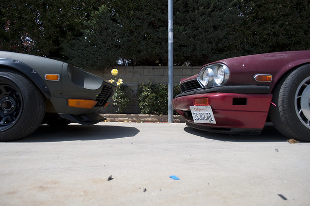 Nose to Nose XJ-S and 240z