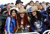 Rebecca Harkin,Natasha Mc Monigle and Dearbhla Martin from Derry at OXEGEN 10 in Punchestown Photo:Kyran O'Brien