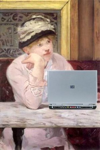 The Blog, after Manet