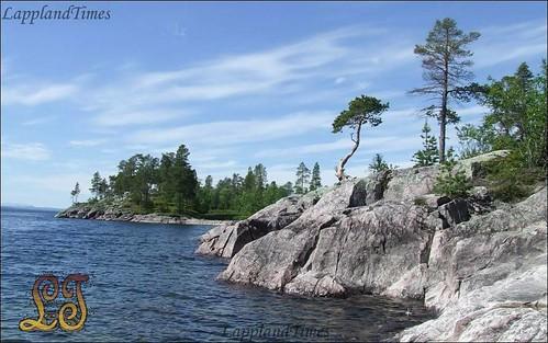 On an island (Hornavan)