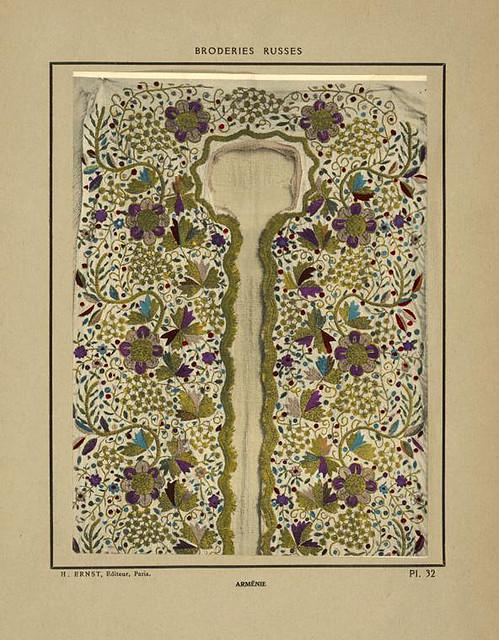 010-Delantero de camisa bordada-Armenia-Broderies russes tartares armeniennes 1925