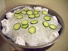 Cucumber Slices at Spa Aquazul