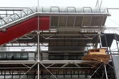 Vor dem Centre Pompidou, Paris