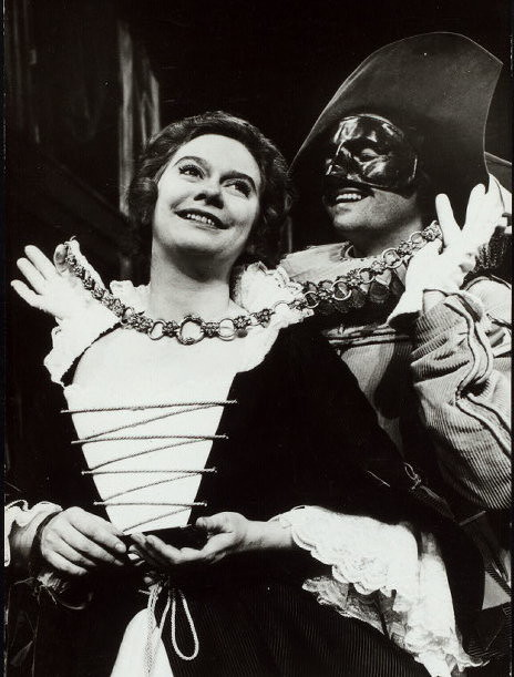 kate reid and james douglas in The Comedy of Errors