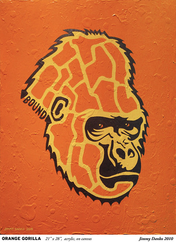 The Orange Gorilla painting