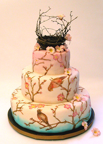 painted wedding cake 1
