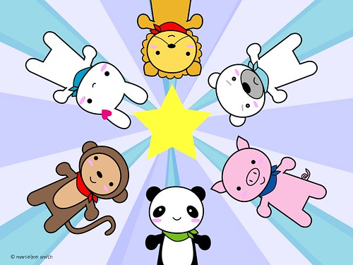Super Cute Kawaii Animals Wallpaper