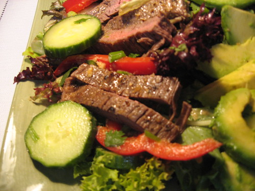 Beef and Red Pepper Salad With Miso Dressing 032