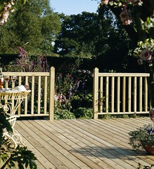 Traditional Square Baluster Large Rail Deck (Richard Burbidge) Tags: decks decking deckrailing deckboards wooddecking gardendecking richardburbidge deckingbalustrade deckingrails deckingbalustrades