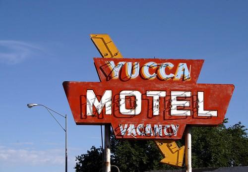 yucca motel neon sign