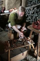 Schuhmacher Andreas (Andy) Helfert in der Herberge von Haithabu WHH 11-07-2010