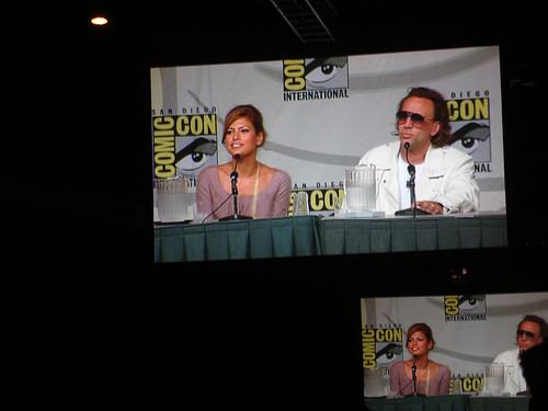 Comic-Con 2006 - Ghost Rider panel - Eva Mendes and Nicolas Cage