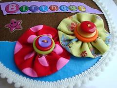 Card CD - fiori (Moonny...) Tags: cd card compleanno farfalla stoffa bottoni
