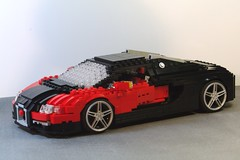 Bugatti Veyron (lego911) Tags: auto sports car model lego engine motor chassis bugatti supercar sportscar veyron w8 moc ldd eurobricks foitsop
