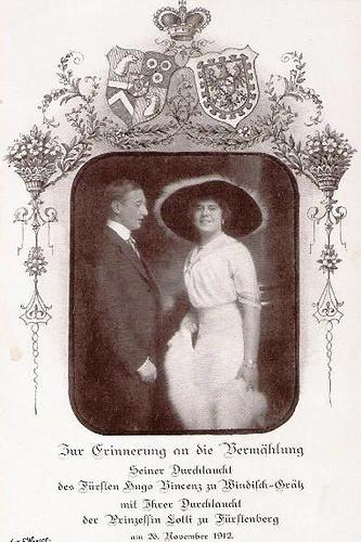 Vermählung des Prinzen Hugo zu Windischgrätz mit Prinzessin Lotti