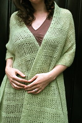 Wisp (pointypointysticks) Tags: green scarf kid knitting lace wrap mohair pistachio cheryl shawl knitted sublime lacy knitty niamath