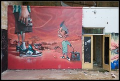 Rocket01 and Sebasura (Romany WG) Tags: urban house art graffiti gallery pumps decay sheffield nike filter aerosol exploration derelict urbex rocket01 sebasura