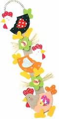 Móbile (Luciana de Campos) Tags: galinhas riscos moldes aplicação patchcolagem
