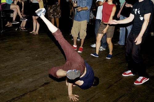 Breakdancing at I Love Vinyl in Brooklyn