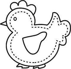 Galinha (Luciana de Campos) Tags: galinhas riscos moldes aplicação patchcolagem