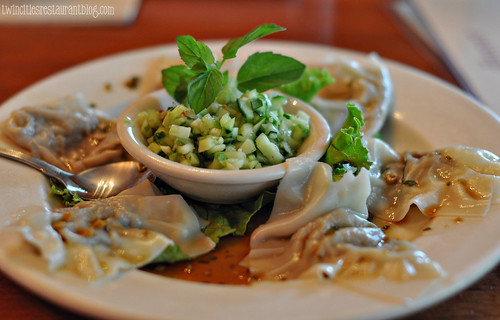 east side cafe-eggplant postickers (Austin, TX)