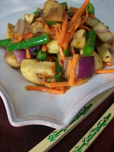 Un-Stirfry with Ginger Sauce