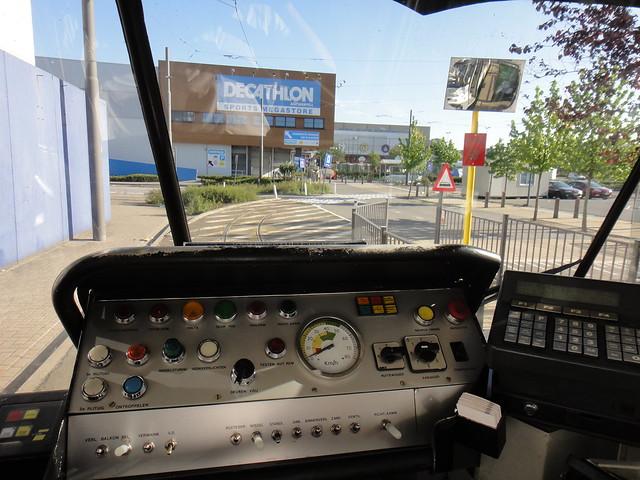 Cockpit of a PCC tram (streetcar)