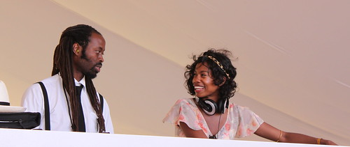 Happy DJ's at Veuve Cliquot Gold Cup