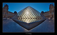 #200/365 Focus (iPh4n70M) Tags: blue light sky paris france reflection monument water museum architecture french photography photo nikon eau photographer photographie louvre lumire muse fisheye bleu reflet ciel photograph tc 365 nikkor bp 16mm fran