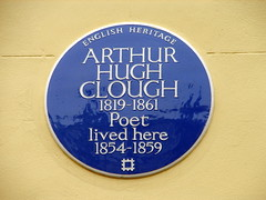 Photo of Arthur Hugh Clough blue plaque