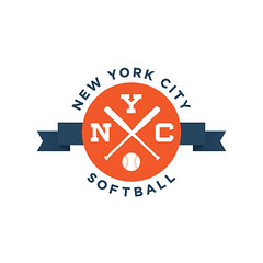 NYC softball (Wallace Design House) Tags: nyc color modern vintage ball logo design mark identity softball league