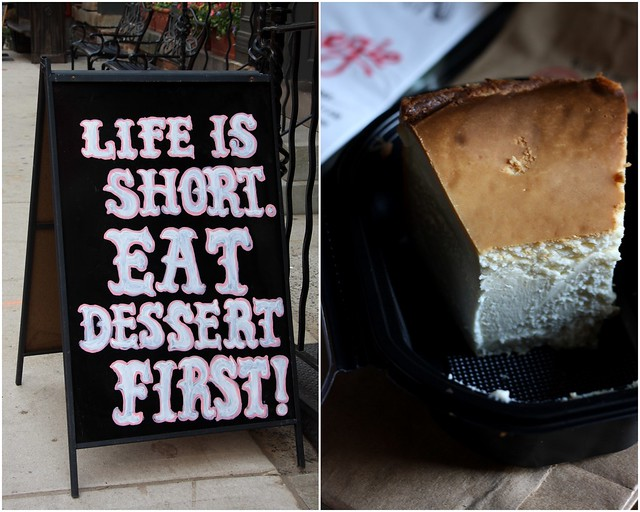 Life is short. Eat cheese cake.