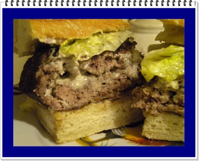 Garlic and Herb Cheese Stuffed Burger Recipe @ Recipe Addict